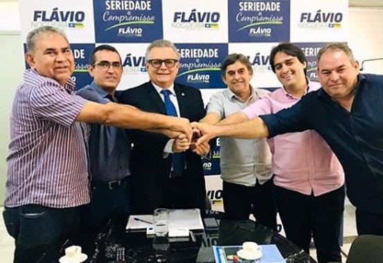 Lideranças se uniram visando as eleições (Foto: Reprodução/Instagram/Flávio Nogueira)