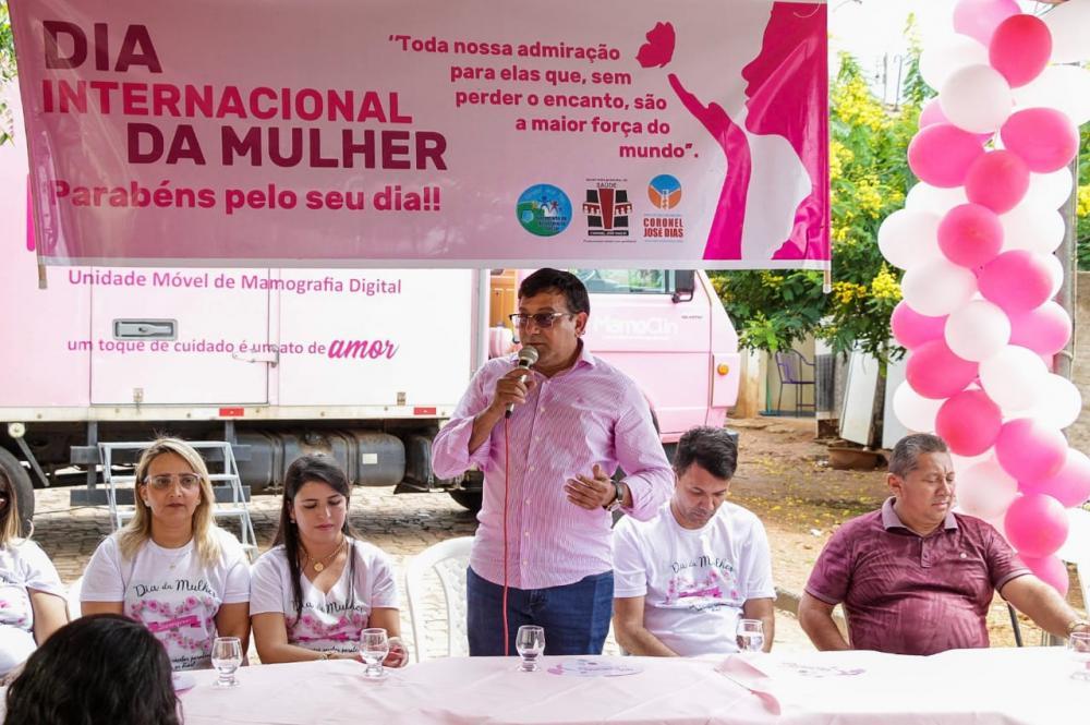 Prefeitura de Coronel José Dias comemora o Dia da Mulher com ações