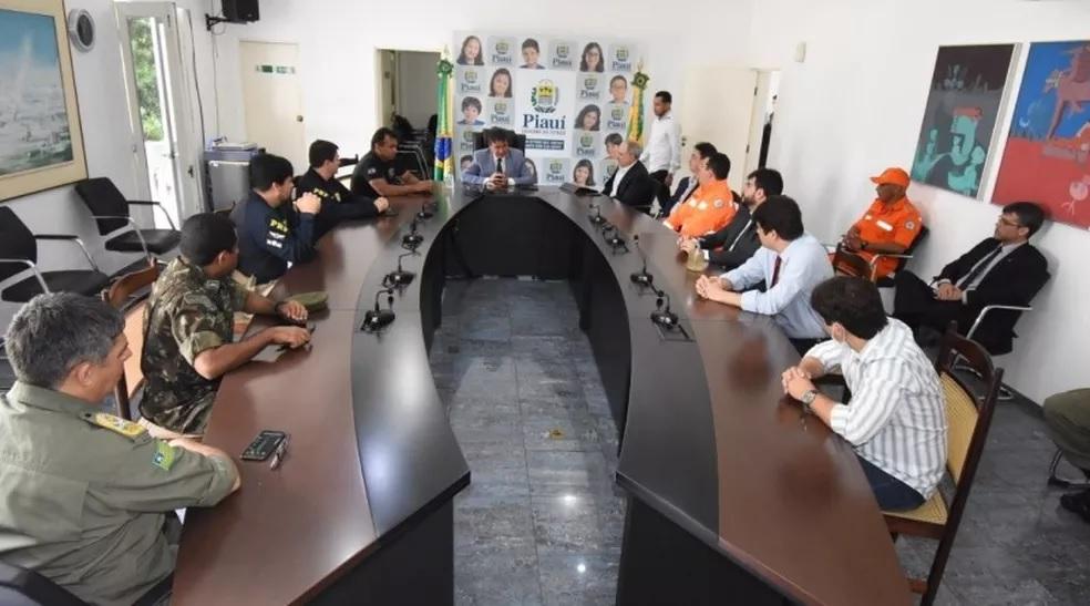 Reunião definiu estratégias de abordagem nas fronteiras do Piauí. — Foto: Divulgação/PRF