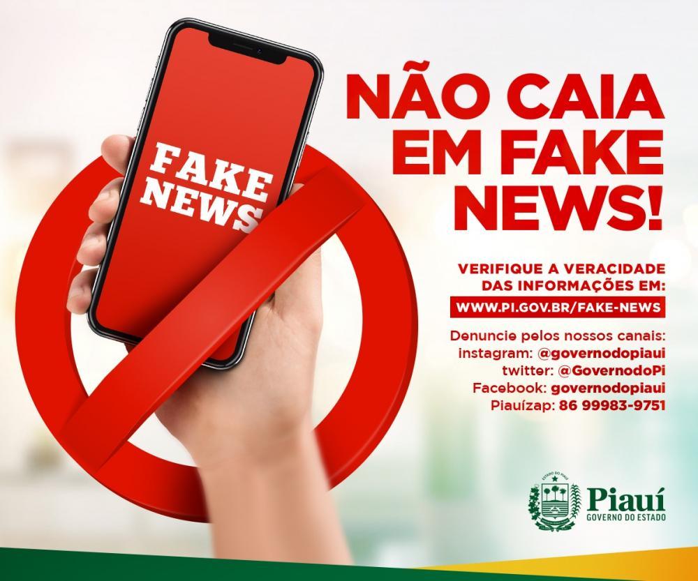Governo do Piauí cria página para combater notícias falsas