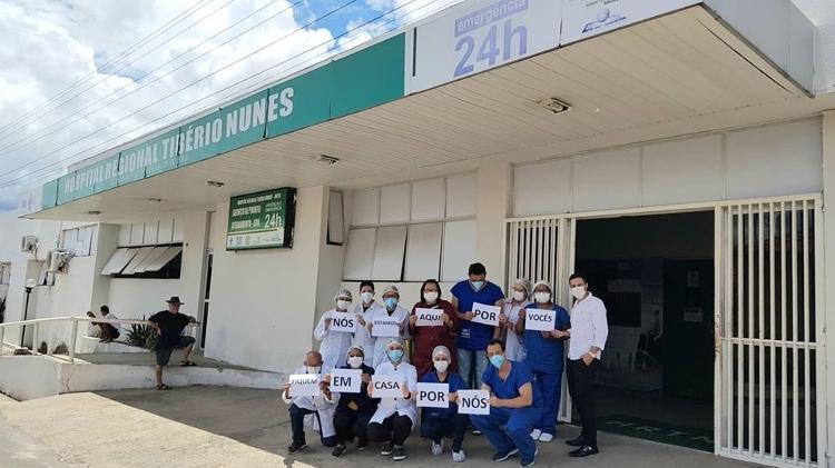 Fachada do Hospital Regional Tibério Nunes, em Floriano (PI) (Imagem: Reprodução - 20.mar.2020/Facebook/Hospital Regional Tibério Nunes)