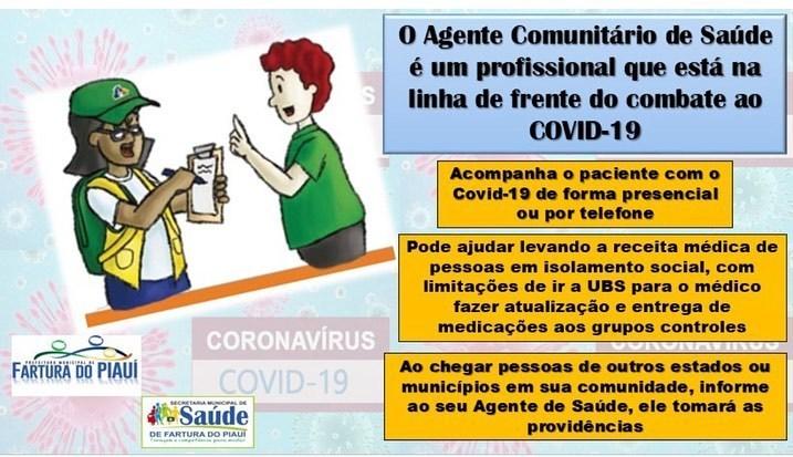 Prefeitura de Fartura do Piauí ressalta a importância do agente comunitário no combate ao Covid-19