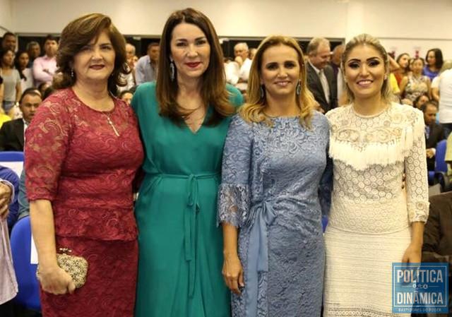 As três prefeitas com a deputada Margarete Coelho (Foto: Reprodução/Facebook Margarete)
