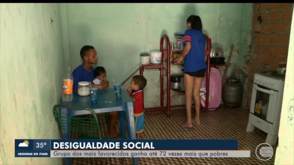 Cerca de 30% da população do Piauí vive com menos de R$ 200 por mês