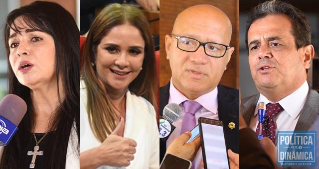 Teresa, Lucy, Franzé e Henrique lideram (Fotos: Jailson Soares/PoliticaDinamica.com)