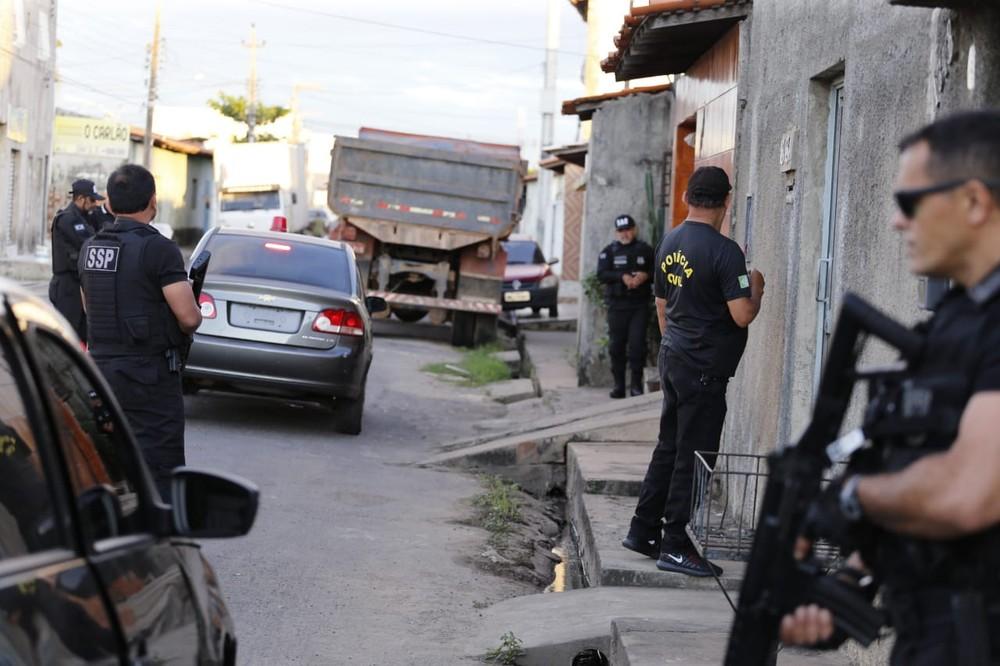 Operação Impacto cumpre mandados de prisão no Piauí e no Maranhão. — Foto: Divulgação/SSP-PI