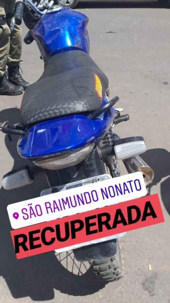 Polícia Militar recupera motocicleta roubada em São Raimundo Nonato