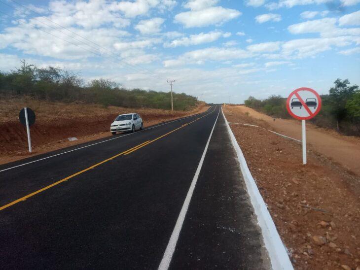 Governo conclui pavimentação da PI-144 entre Dom Inocêncio e São Lourenço