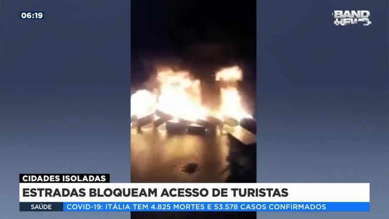 Estradas bloqueiam acesso de turistas