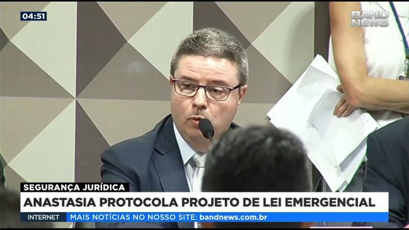 Anastasia protocola projeto de lei emergencial