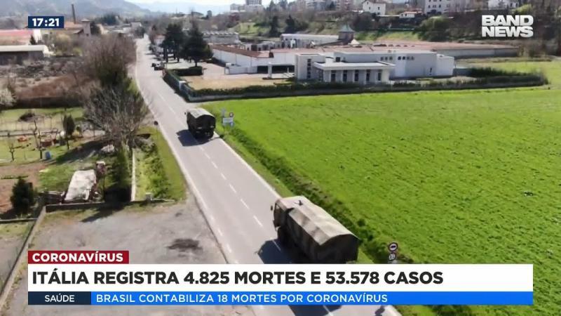 Itália registra 4.825 mortes e 53.578 casos