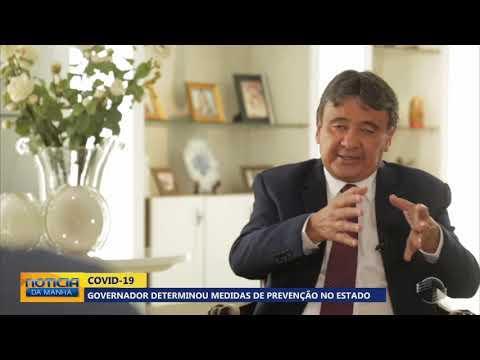 COVID-19: governador determinou medidas de prevenção no estado